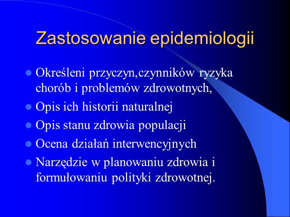 Zastosowanie epidemiologii