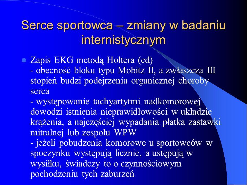 Serce sportowca – zmiany w badaniu internistycznym