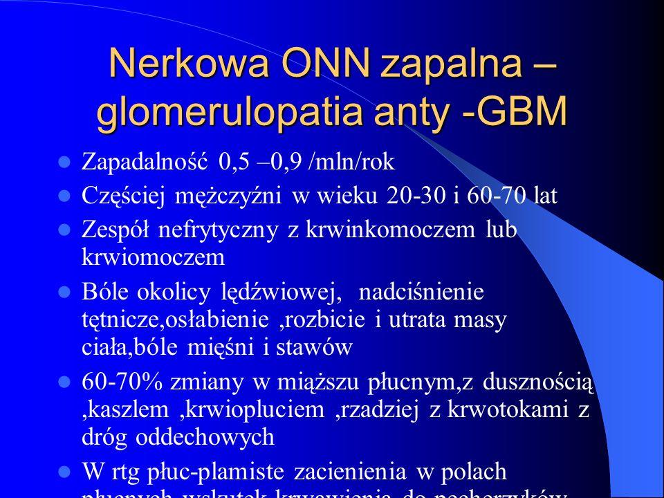 Nerkowa ONN zapalna – glomerulopatia anty -GBM