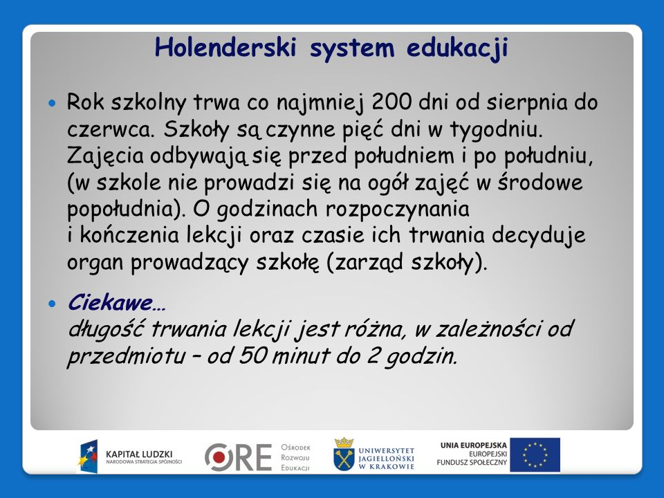 Holenderski system edukacji