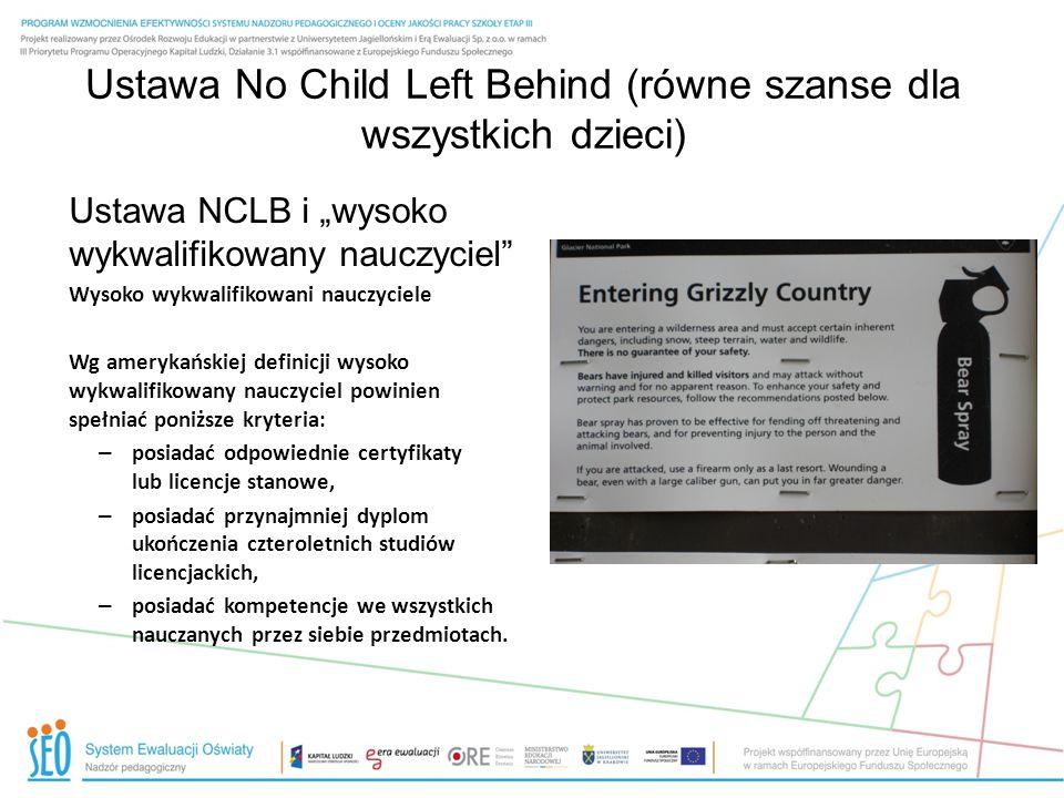 Ustawa No Child Left Behind (równe szanse dla wszystkich dzieci)