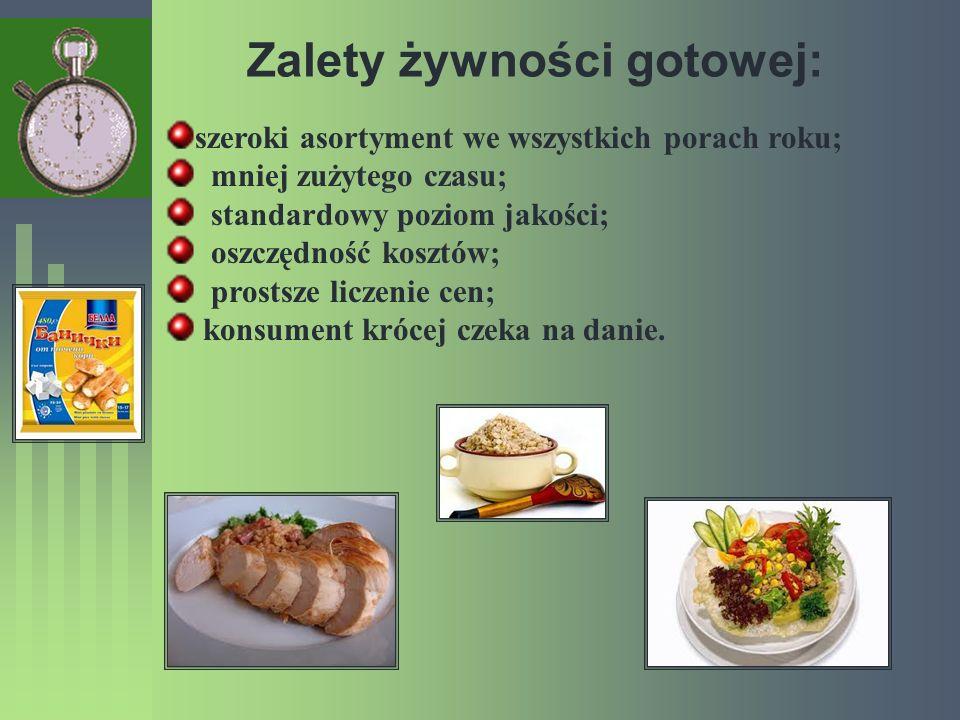 Zalety żywności gotowej: