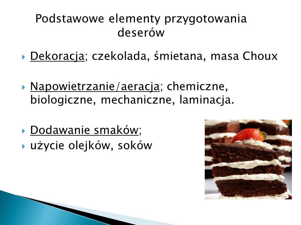 Podstawowe elementy przygotowania deserów