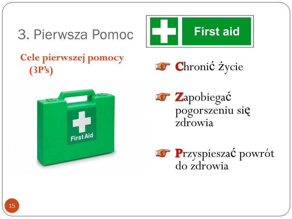 3. Pierwsza Pomoc Chronić życie Zapobiegać pogorszeniu się zdrowia