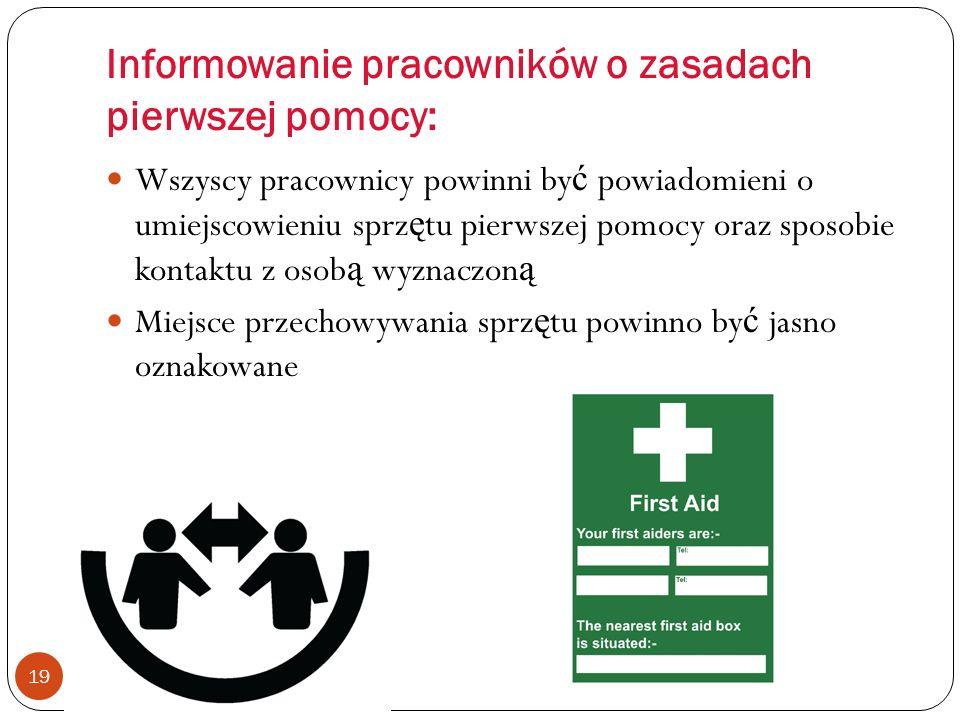 Informowanie pracowników o zasadach pierwszej pomocy: