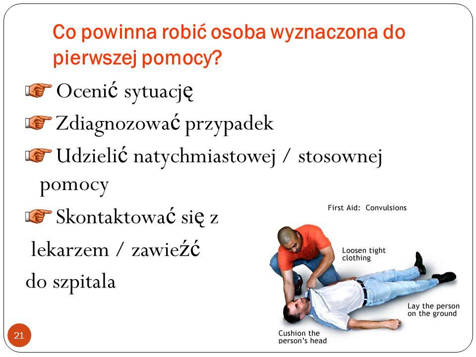 Co powinna robić osoba wyznaczona do pierwszej pomocy