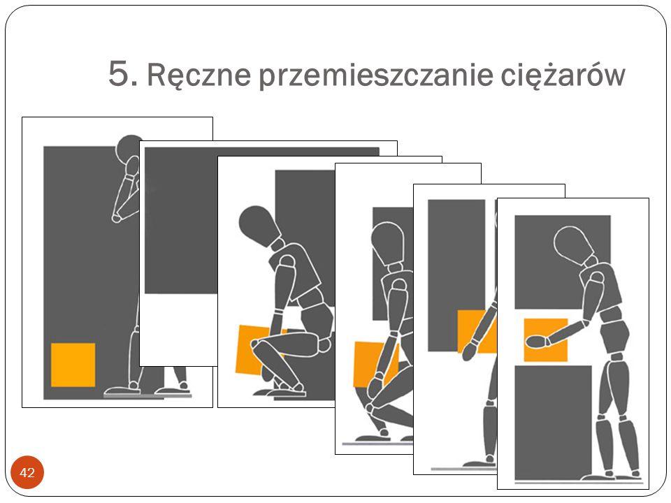 5. Ręczne przemieszczanie ciężarów