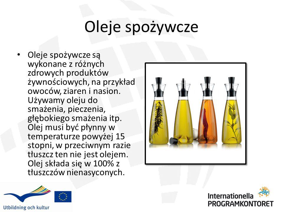 Oleje spożywcze