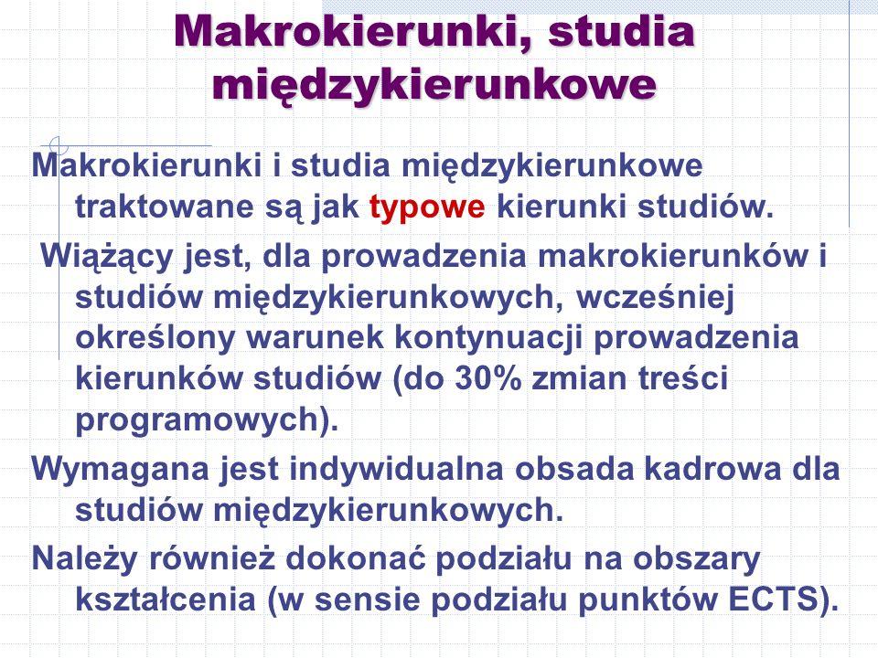 Makrokierunki, studia międzykierunkowe