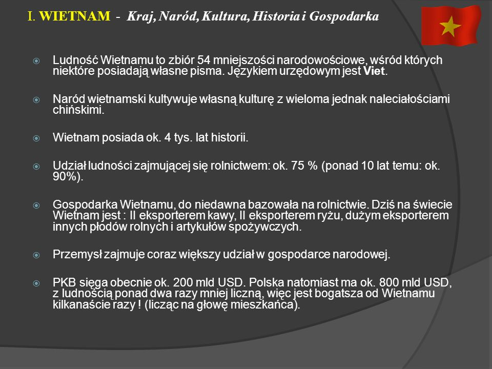 I. WIETNAM - Kraj, Naród, Kultura, Historia i Gospodarka