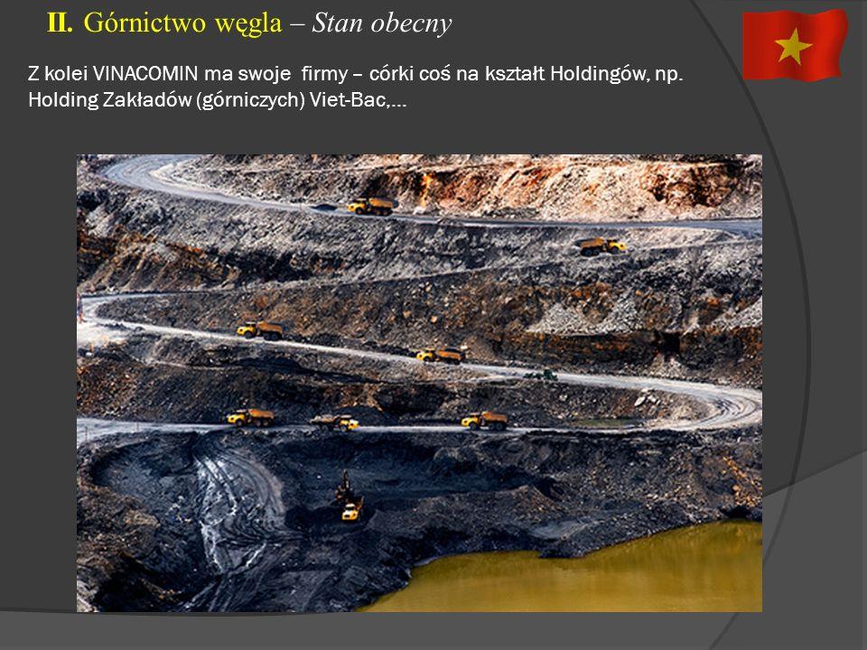 II. Górnictwo węgla – Stan obecny