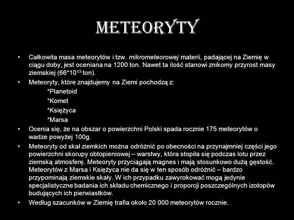 METEORYTY