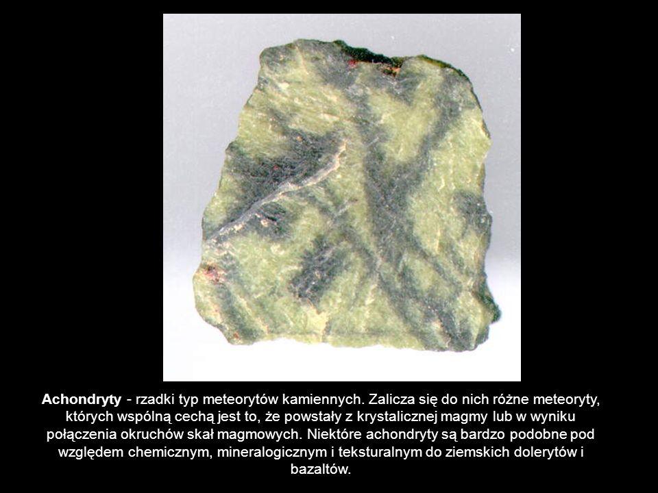 Achondryty - rzadki typ meteorytów kamiennych
