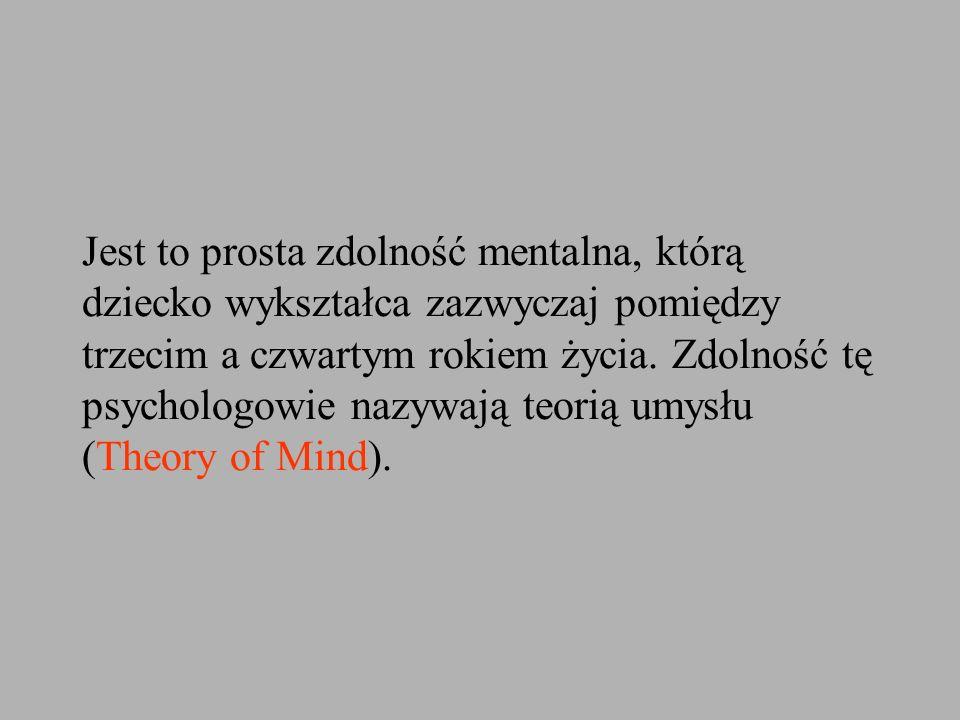 Jest to prosta zdolność mentalna, którą dziecko wykształca zazwyczaj pomiędzy trzecim a czwartym rokiem życia.