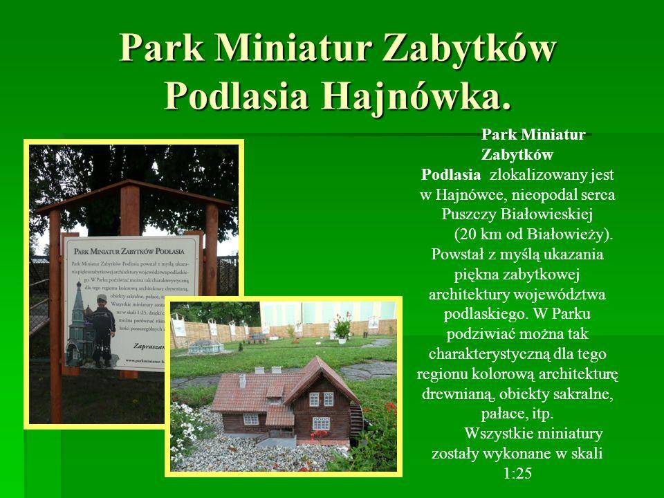 Park Miniatur Zabytków Podlasia Hajnówka.