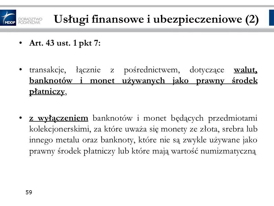 Usługi finansowe i ubezpieczeniowe (2)