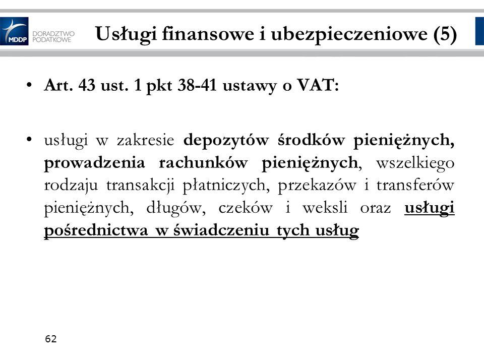 Usługi finansowe i ubezpieczeniowe (5)
