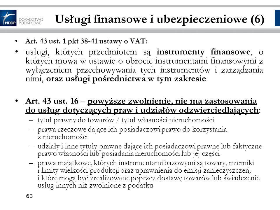 Usługi finansowe i ubezpieczeniowe (6)