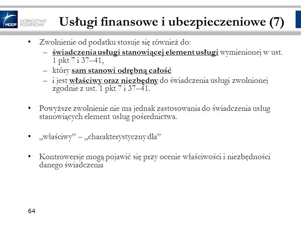 Usługi finansowe i ubezpieczeniowe (7)