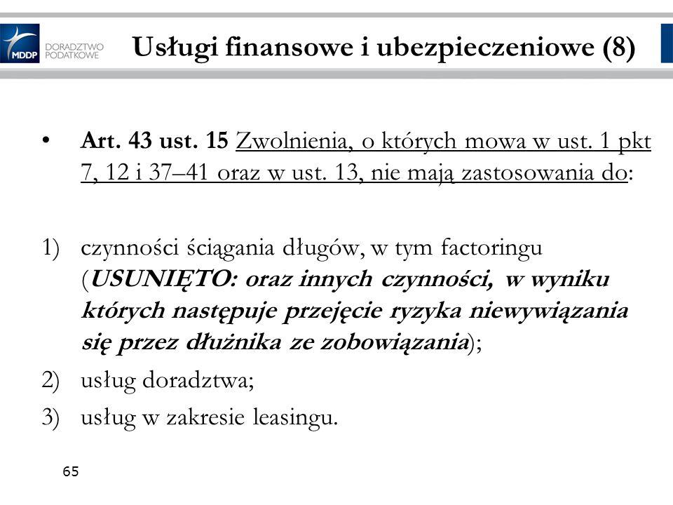 Usługi finansowe i ubezpieczeniowe (8)