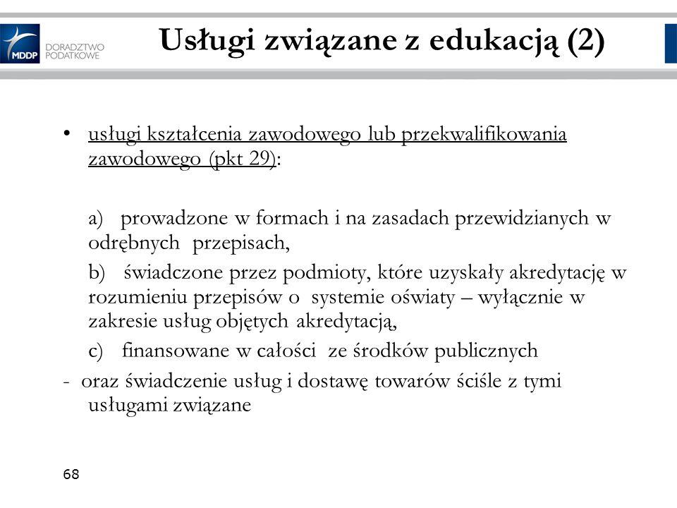 Usługi związane z edukacją (2)
