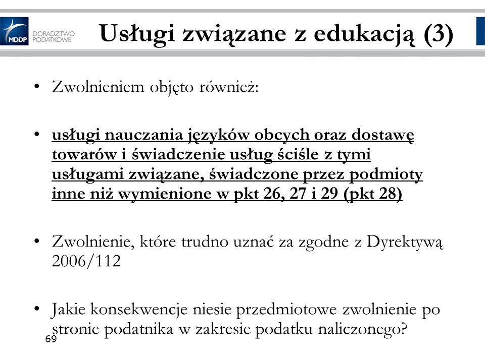Usługi związane z edukacją (3)