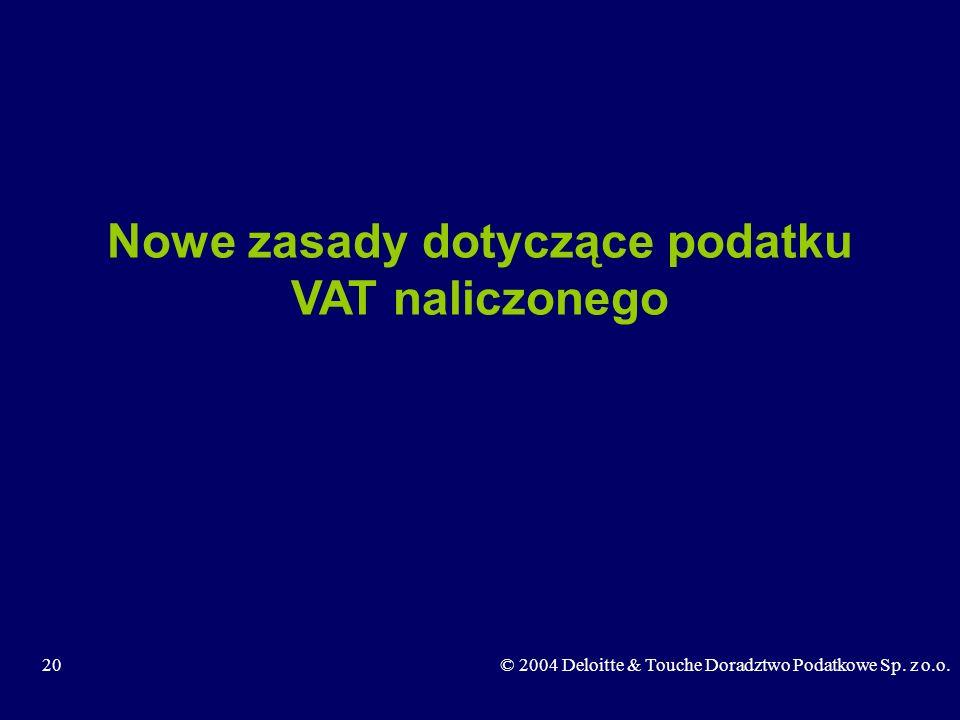 Nowe zasady dotyczące podatku VAT naliczonego