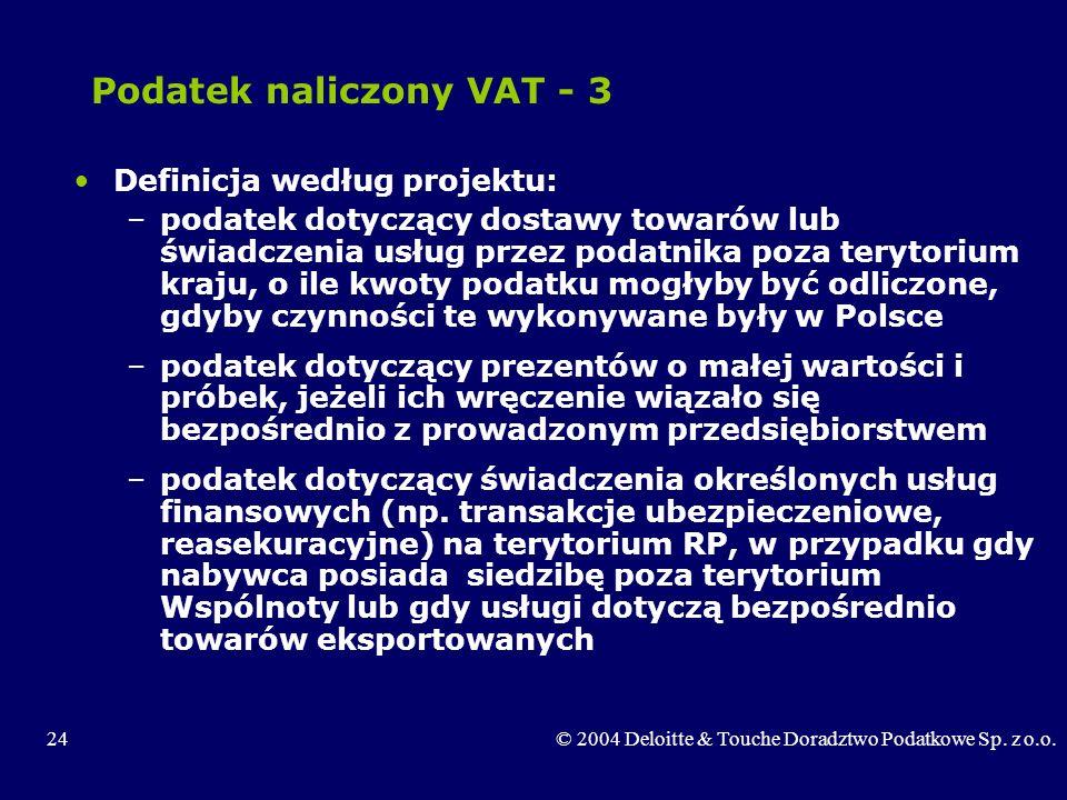 Podatek naliczony VAT - 3