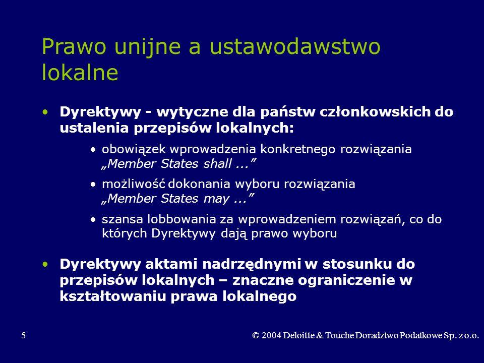 Prawo unijne a ustawodawstwo lokalne