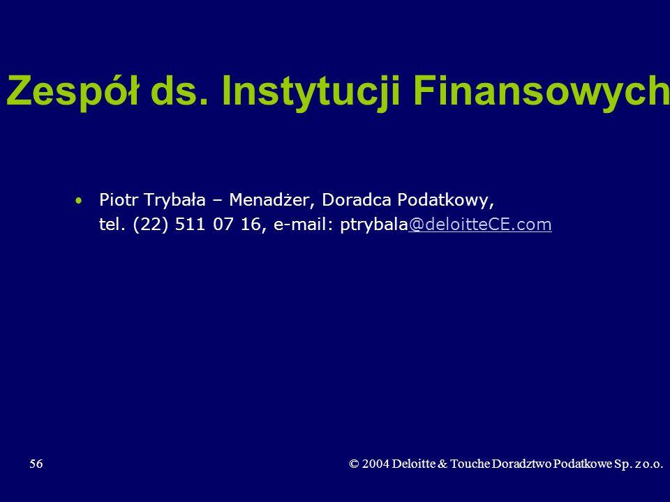 Zespół ds. Instytucji Finansowych