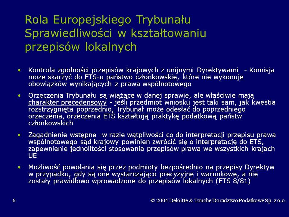 Rola Europejskiego Trybunału Sprawiedliwości w kształtowaniu przepisów lokalnych