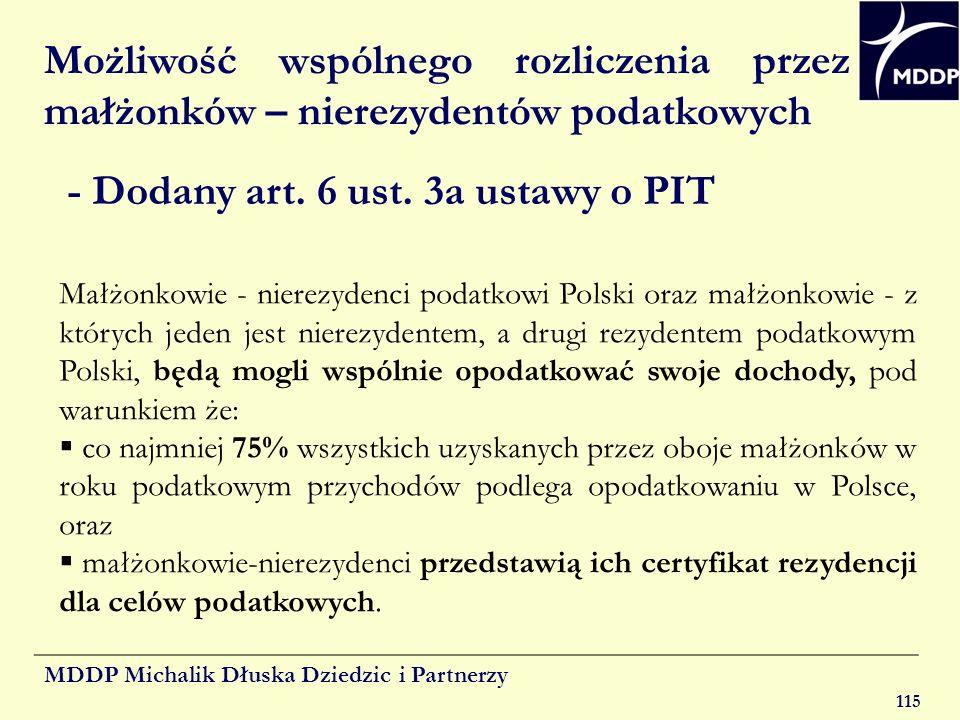 - Dodany art. 6 ust. 3a ustawy o PIT