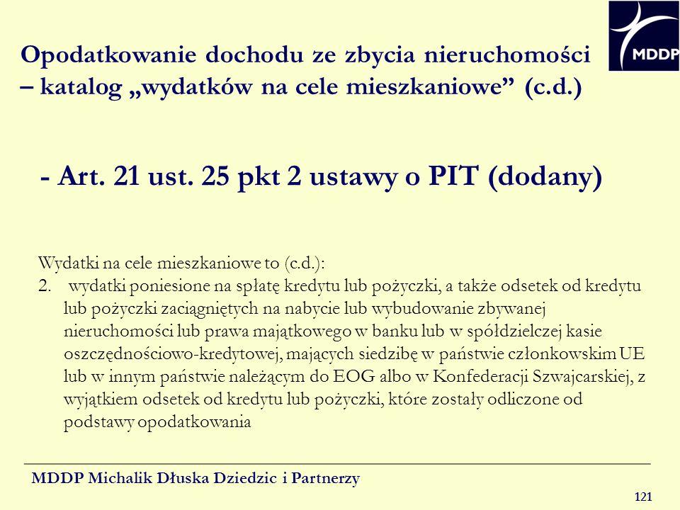- Art. 21 ust. 25 pkt 2 ustawy o PIT (dodany)