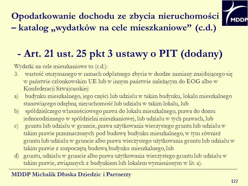 - Art. 21 ust. 25 pkt 3 ustawy o PIT (dodany)