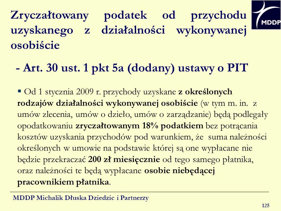 - Art. 30 ust. 1 pkt 5a (dodany) ustawy o PIT