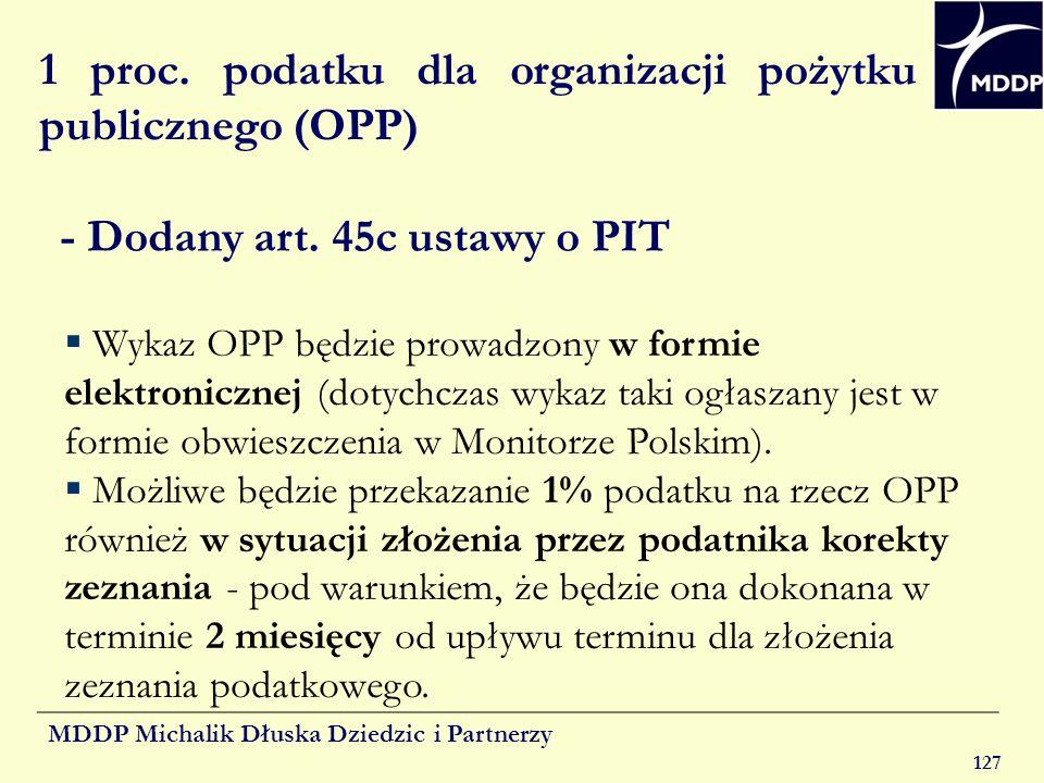 1 proc. podatku dla organizacji pożytku publicznego (OPP)