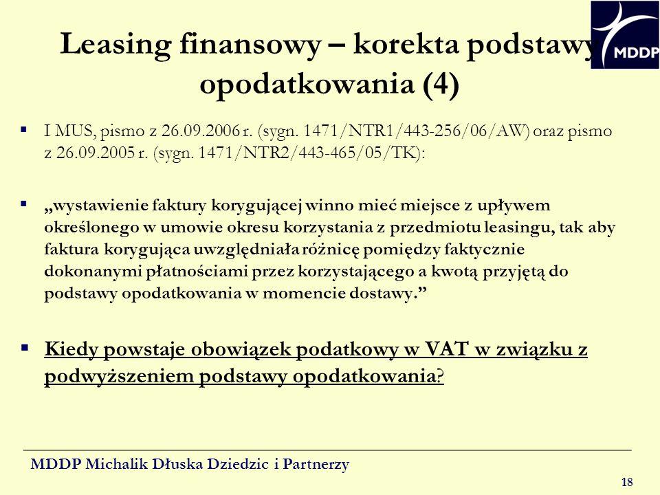 Leasing finansowy – korekta podstawy opodatkowania (4)