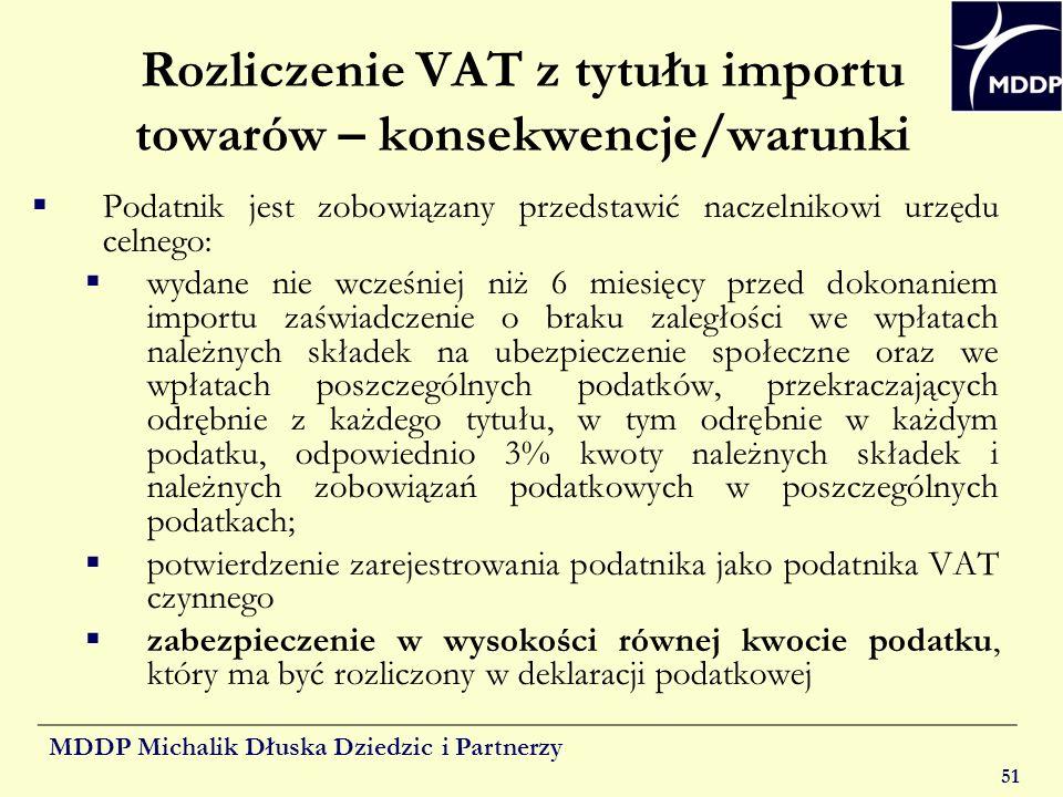 Rozliczenie VAT z tytułu importu towarów – konsekwencje/warunki