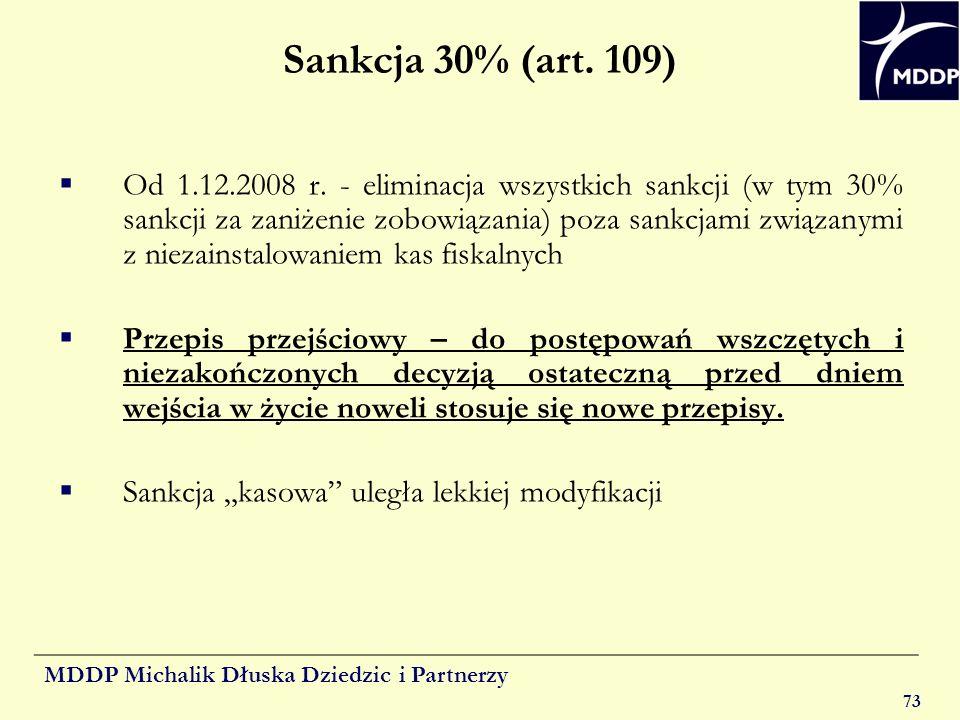 Sankcja 30% (art. 109)