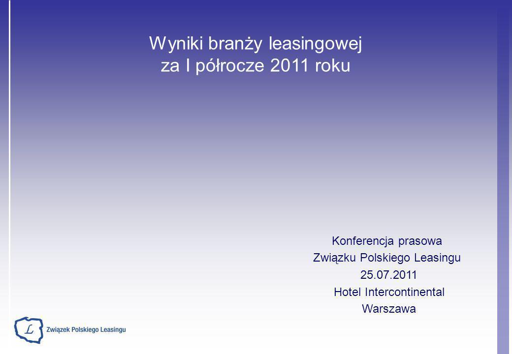 Wyniki branży leasingowej za I półrocze 2011 roku