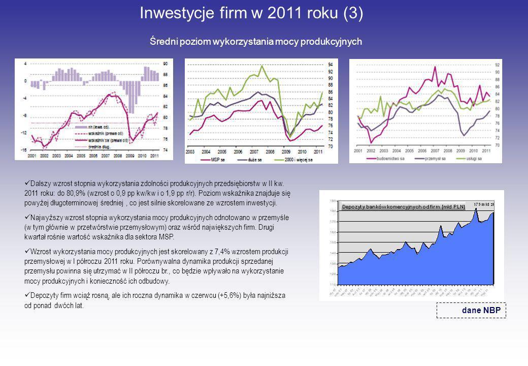 Inwestycje firm w 2011 roku (3)