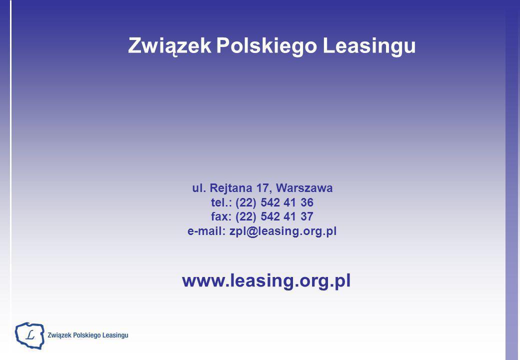 Związek Polskiego Leasingu e-mail: zpl@leasing.org.pl