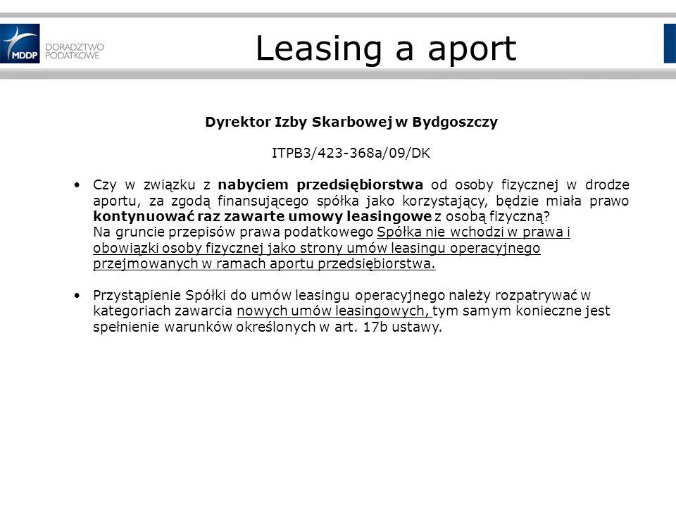 Dyrektor Izby Skarbowej w Bydgoszczy