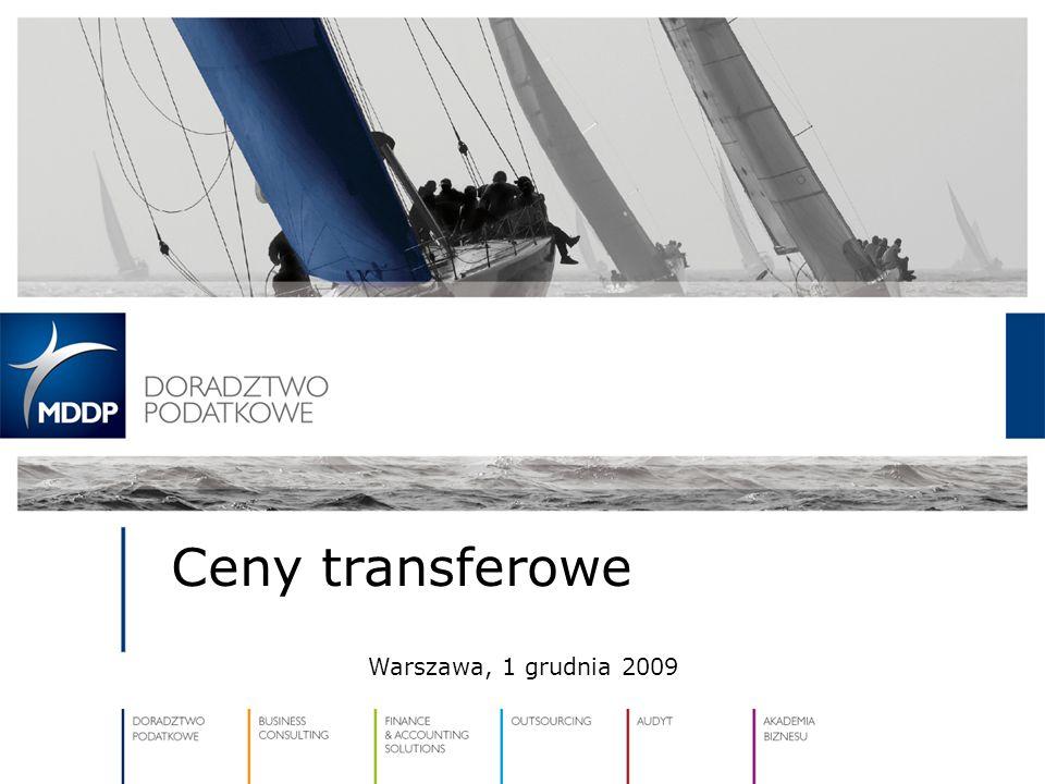 Ceny transferowe Warszawa, 1 grudnia 2009