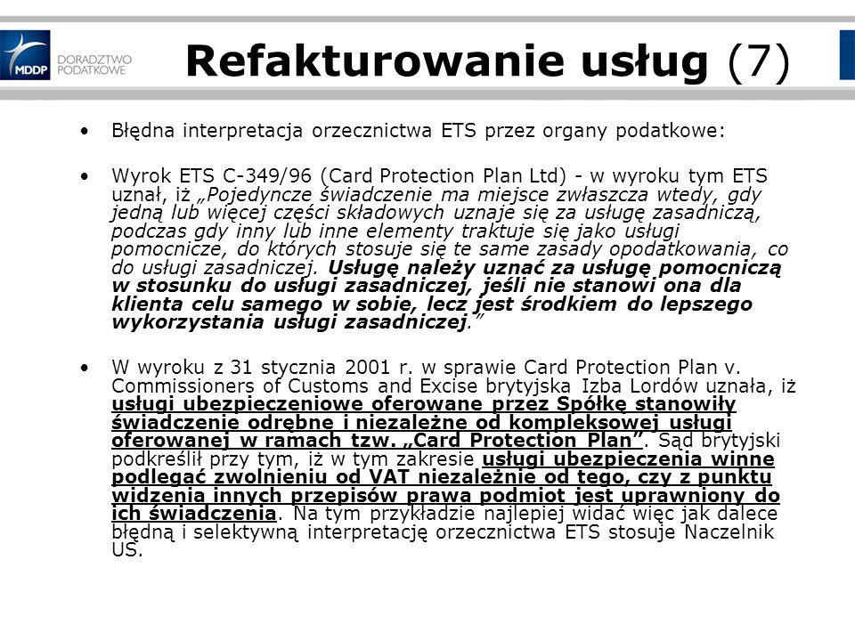 Refakturowanie usług (7)