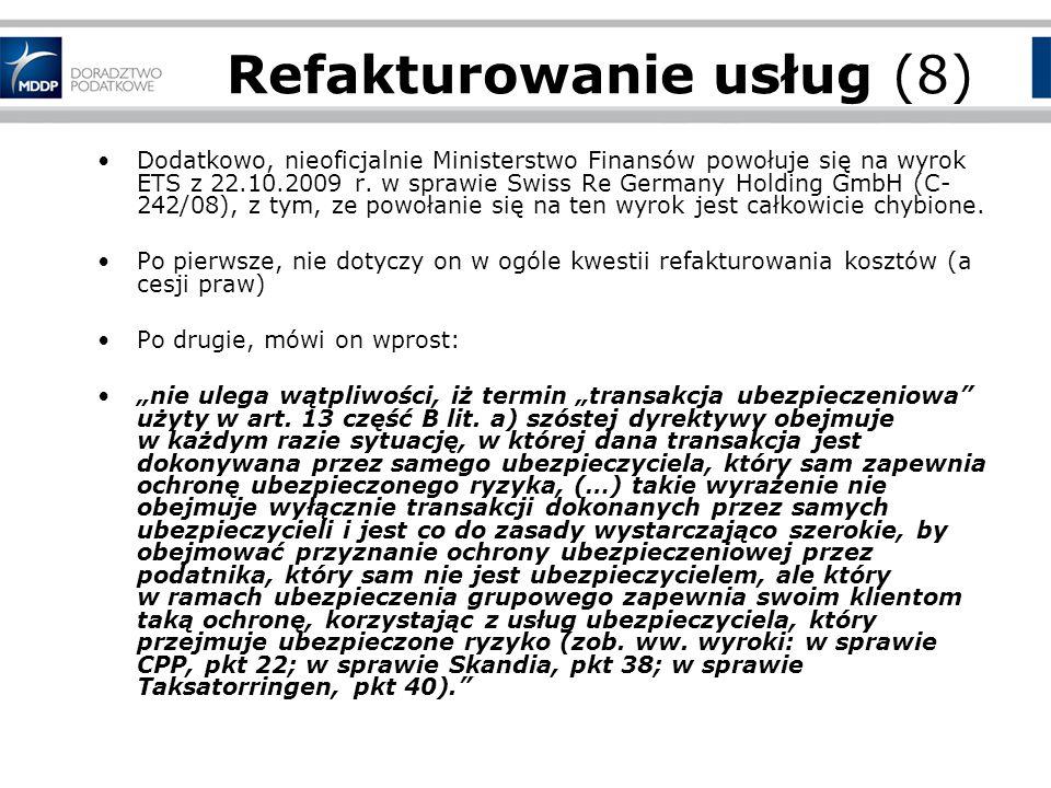 Refakturowanie usług (8)