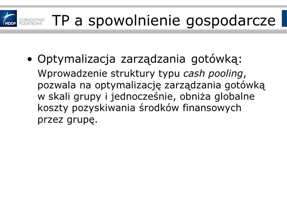 TP a spowolnienie gospodarcze