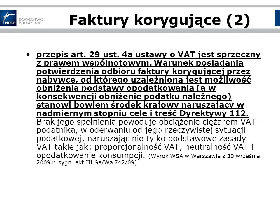 Faktury korygujące (2)