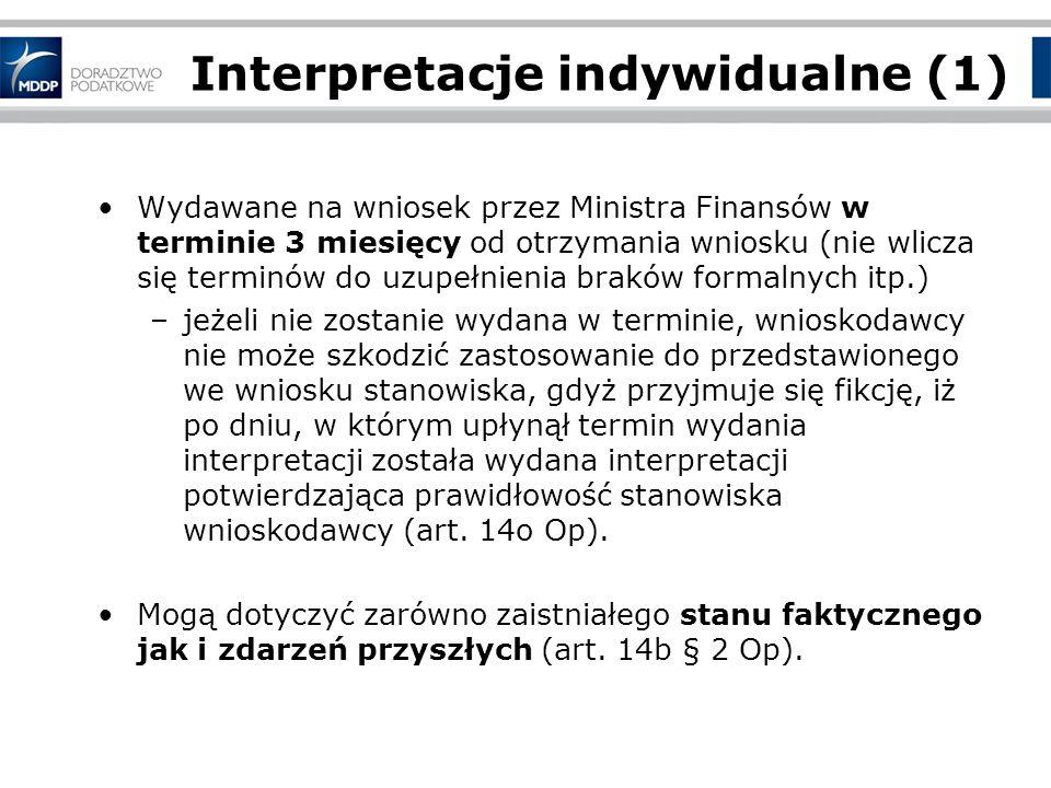 Interpretacje indywidualne (1)