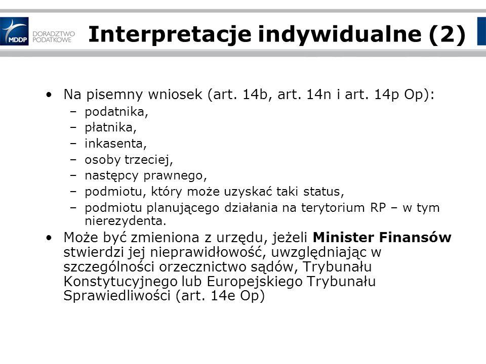 Interpretacje indywidualne (2)